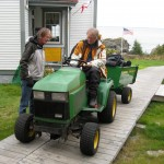 Andy & Sean Running The Deere To The Boathouse