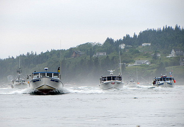 Maine lobster boat racing